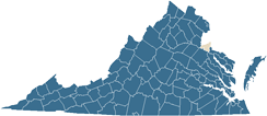 Map of King George County